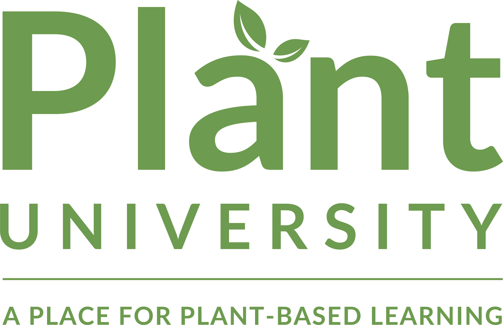 Logo for PlantUniversity, a place for plant-based learning